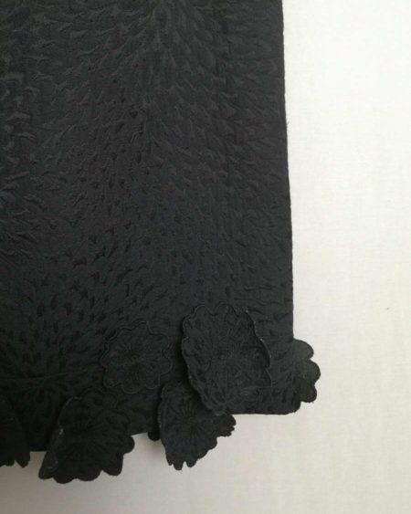 Jupe emporio armani noire avec fleurs