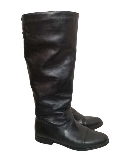 Bottes en cuir noir t39