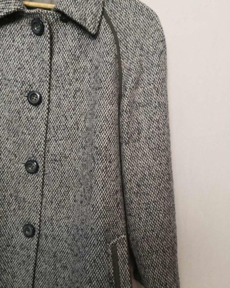 Manteau vintage en laine chiné